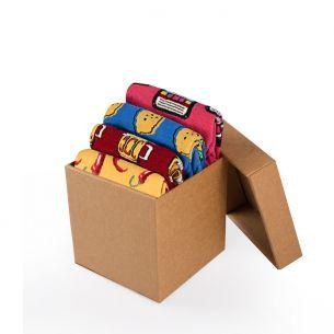 BOX 4 Invisible Socks SUMMER VIBES