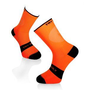 CYCLING LIGHT SOCKS Fluo Orange